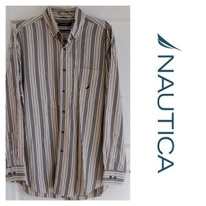NAUTICA | XL Dress Shirt Button Down Stripes